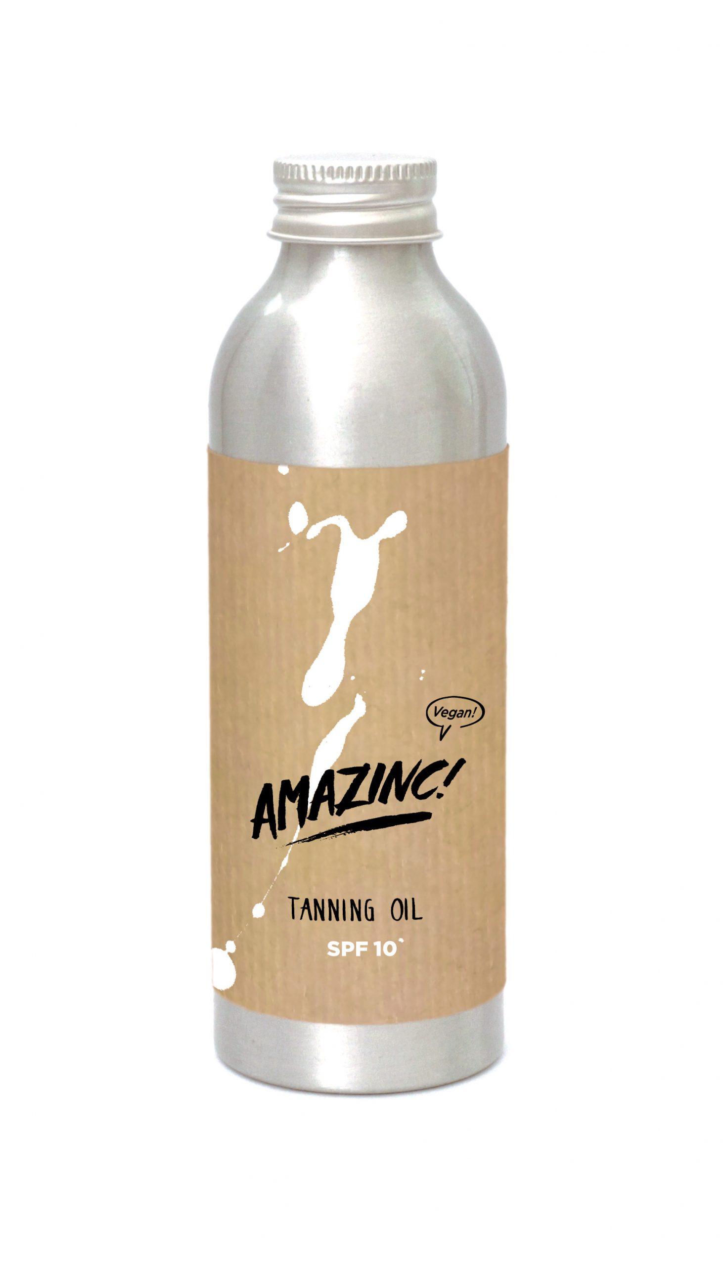 Amazinc Tanning Oil - Large - SPF 10+