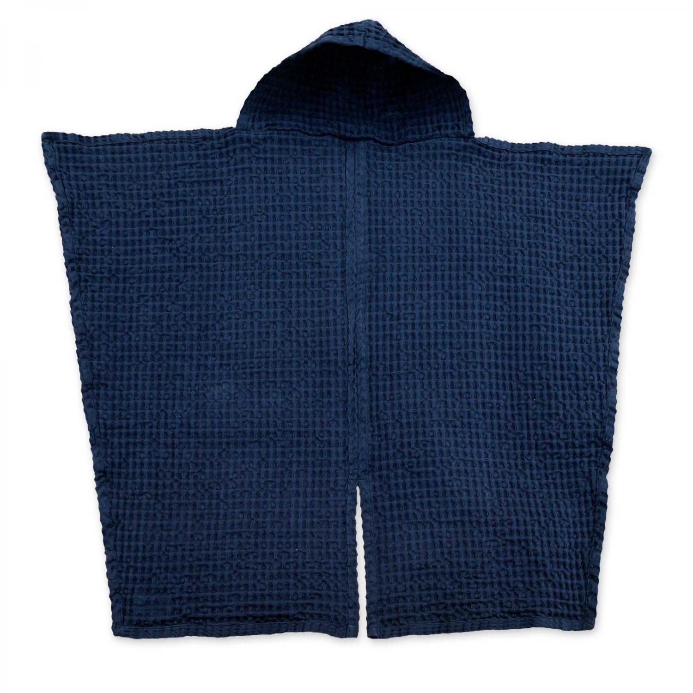 Babyhåndklæde i økologisk vaffelvævet bomuld – Dark Blue