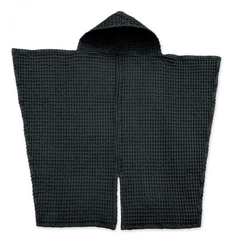Babyhåndklæde i økologisk vaffelvævet bomuld – Dark Grey