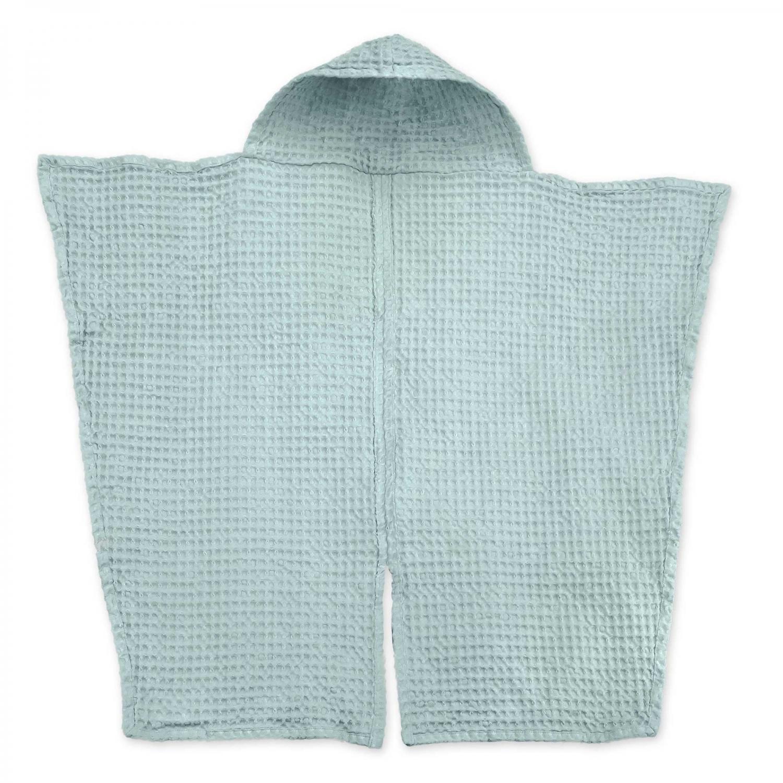 Babyhåndklæde i økologisk vaffelvævet bomuld – Sky