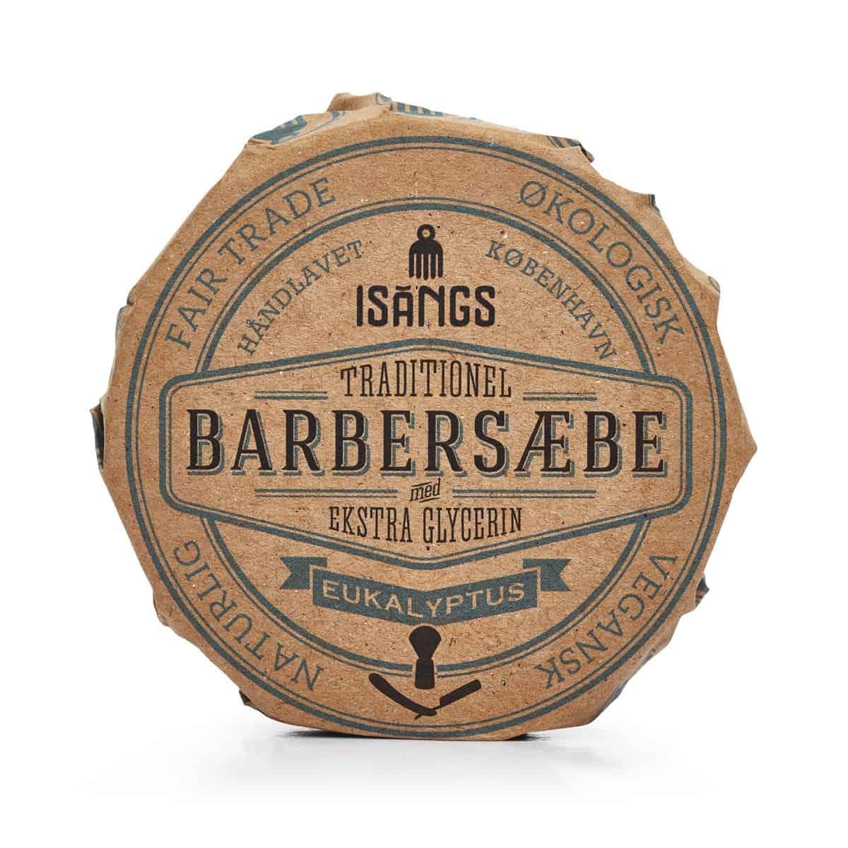 Barbersæbe fra Isangs – Eukalyptus – 70 g.