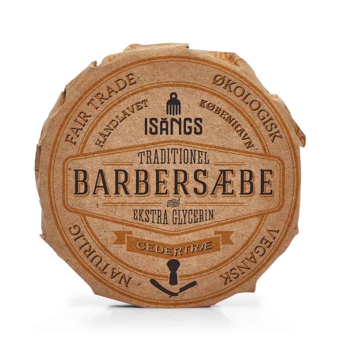 Barbersæbe fra Isangs – Cedertræ – 70 g.