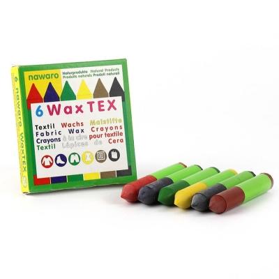 Tekstilfarver af bivoks - 6 farver