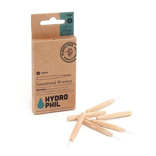 Interdentalbørste i bambus - Str. 3 - 0,6 mm.