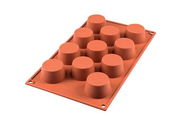 Genanvendelig bageform i platinsilikone - mini muffins