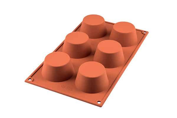 Genanvendelig bageform i platinsilikone - muffins