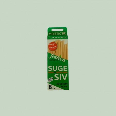 Bambus sugerør og sugerør af hvedestrå